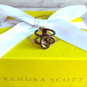 EUC Kendra Scott Gunmetal Elyse Ring